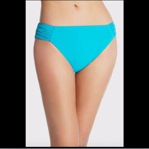 NWT PROFILE GOTTEX Swan Lake Shirred Bikini Bottom